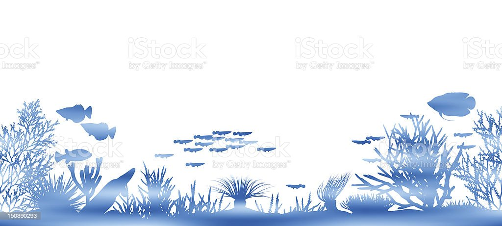 Water coral royalty-free stock vector art