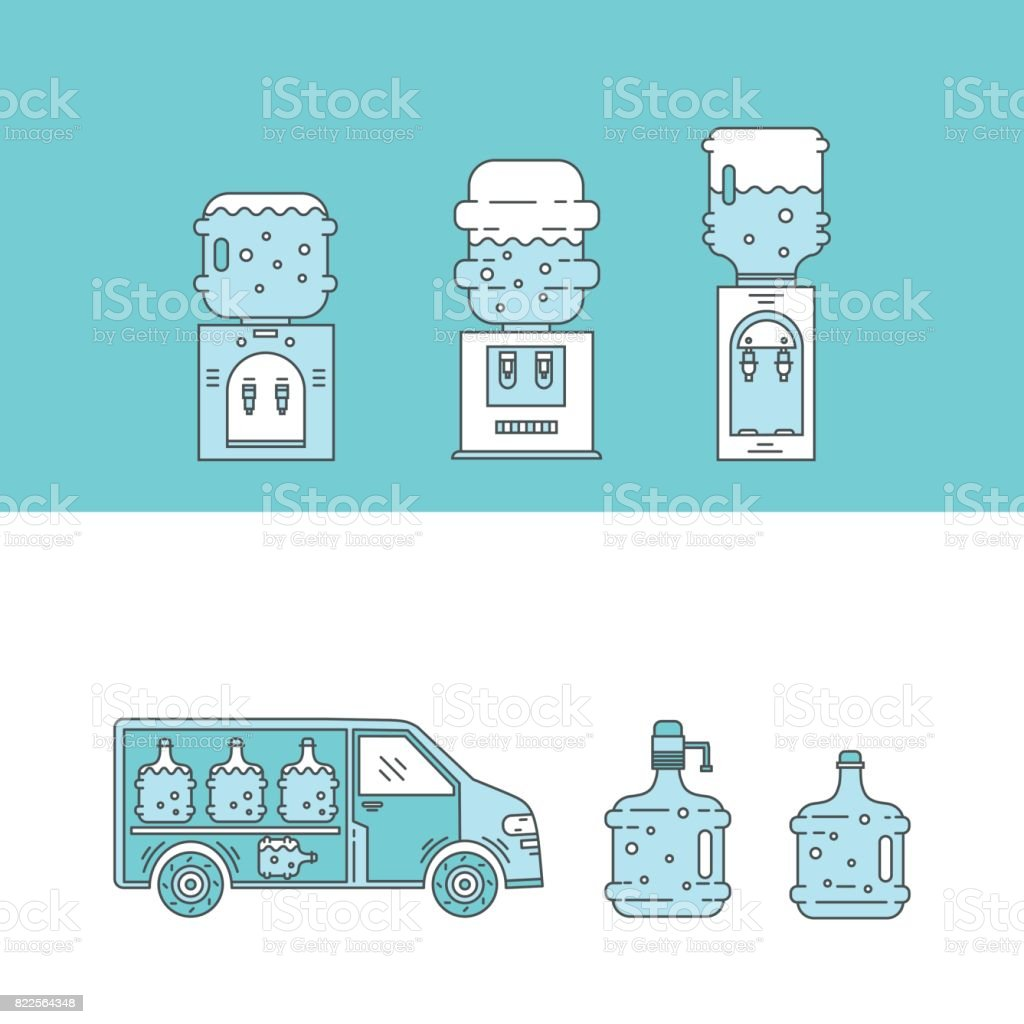 100% authentic 100% high quality good Water Delivery Collections Stock Illustration - Download ...