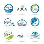 Water design elements & icon - Illustration