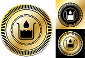 istock Water Drop and Flask Icon 1307425826
