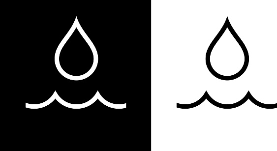 Water Drop and Wave Icon