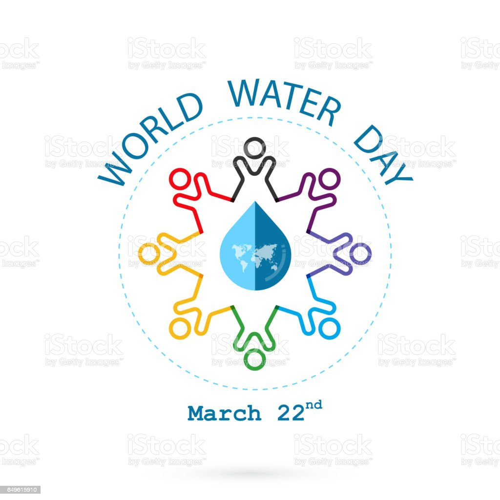 Water drop and world map with people icon vector logo design water drop and world map with people icon vector logo design template water day gumiabroncs Gallery