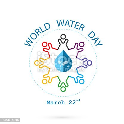 Water drop and world map with people icon vector logo design water drop and world map with people icon vector logo design templateworld water day idea campaign for greeting card and poster arte vectorial de stock y gumiabroncs Gallery