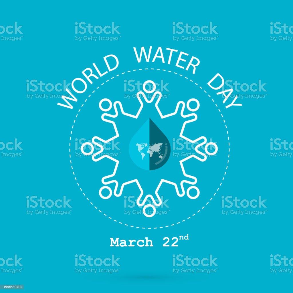 Gota De Agua Y Mundo Mapa Con Plantilla De Diseño De Logotipo De ...
