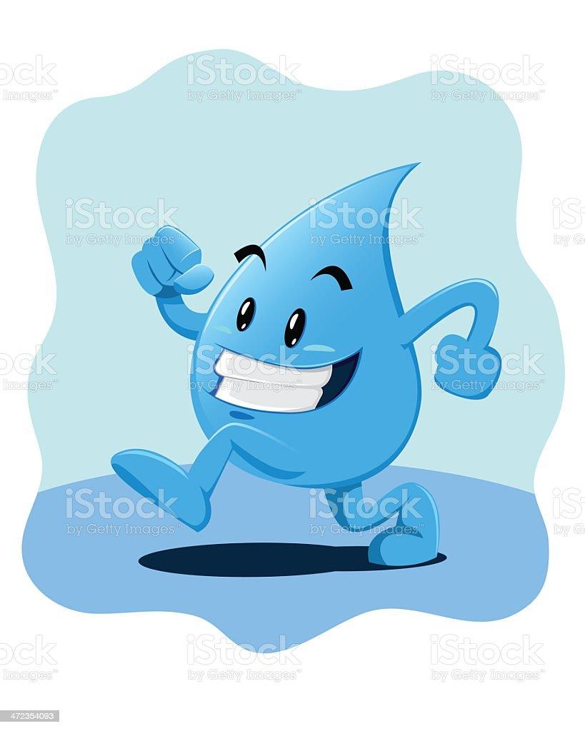 Water Drop Cartoon Mascot royalty-free stock vector art