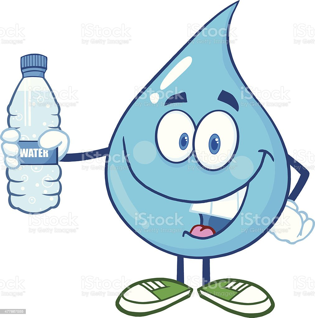 royalty free holding water bottle clip art vector images rh istockphoto com water bottle clip art free water bottle clip art free