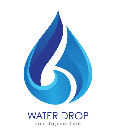 Water Drop Design template.