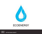 Water Drop emblem. Modern design template. Eco universal icon. Vector illustration.