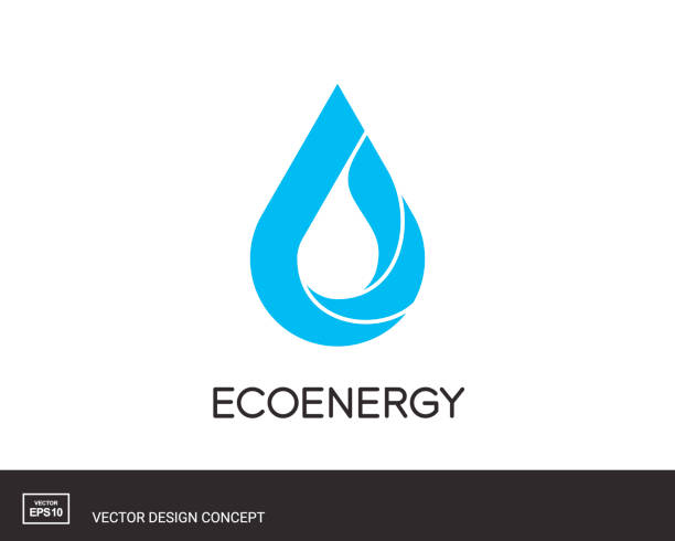 Water Drop emblem. Modern icon template. Water Drop emblem. Modern design template. Eco universal icon. Vector illustration. oil stock illustrations