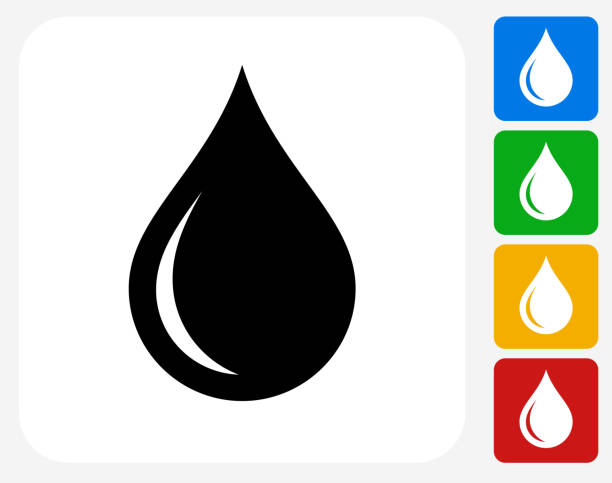 stockillustraties, clipart, cartoons en iconen met water drop icon flat graphic design - druppel