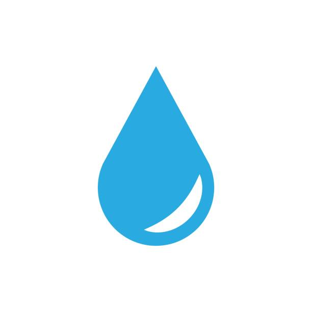 Water drop icon in flat style. Raindrop vector illustration on white isolated background. Droplet water blob business concept. Water drop icon in flat style. Raindrop vector illustration on white isolated background. Droplet water blob business concept. raindrop stock illustrations