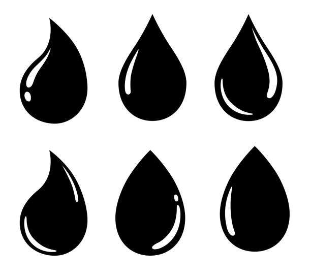 Water drop icon set Water drop icon, sign, material set raindrop stock illustrations