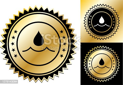 istock Water Drop Icon 1275143094
