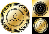 istock Water Drop Icon 1307426407