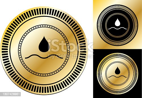 istock Water Drop Icon 1307426951