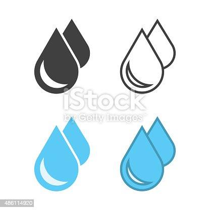 Water Drop Icon Vector EPS File.