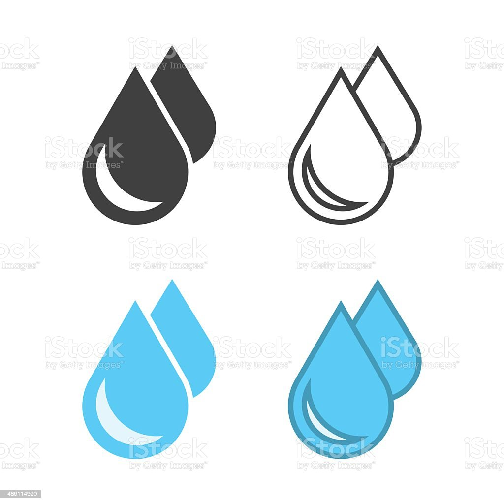 Water Drop Icon vector art illustration