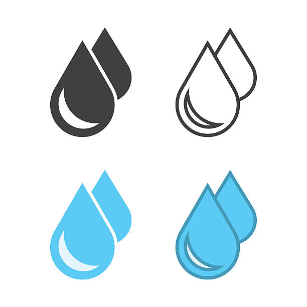 Water Drop Icon Water Drop Icon Vector EPS File. raindrop stock illustrations