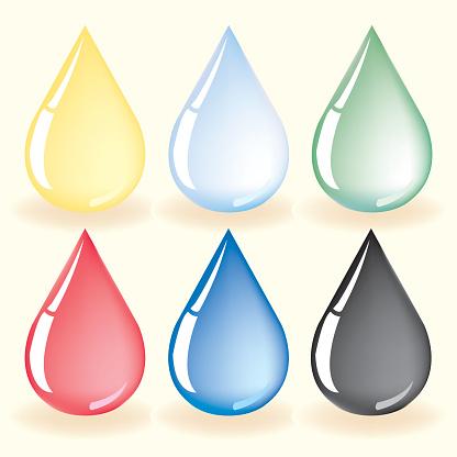 water drop icon vector