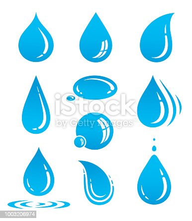 water drop icon set
