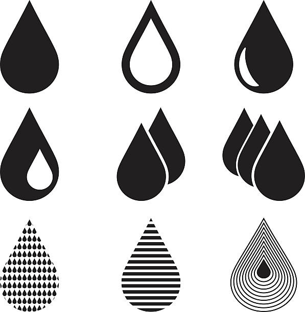 Water Drop Icons Water Drop Icons raindrop stock illustrations