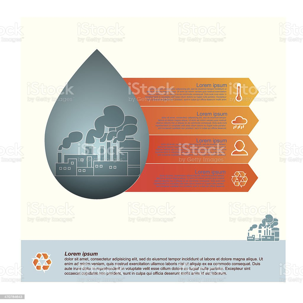 water drop, infographic vector art illustration