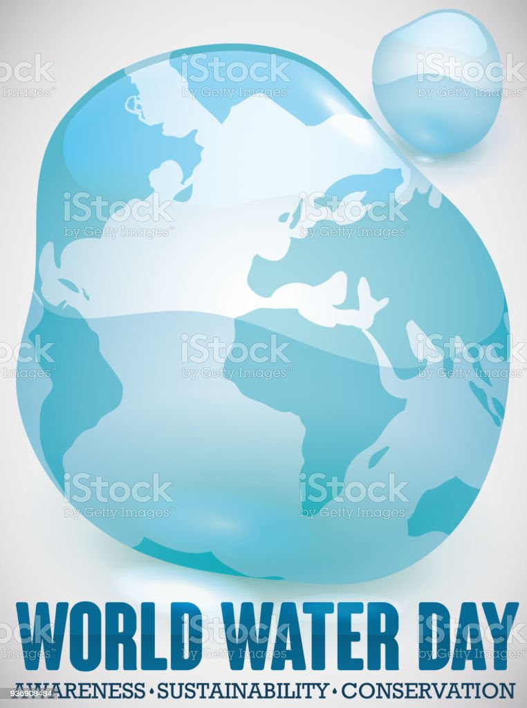 Water drop like world map for water day celebration stock vector art water drop like world map for water day celebration royalty free water drop like world gumiabroncs Gallery