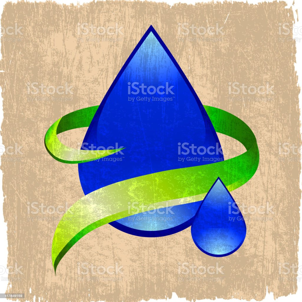 water drop on royalty free vector Background royalty-free stock vector art