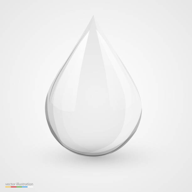 Water drop on white isolated. 3D water drop on white isolated. Vector illustration teardrop stock illustrations
