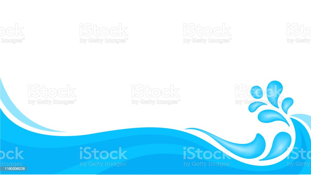 water drop splash isolated on banner white background, splash of water for element banner, water drop splatter simple for songkran festival copy space, splash water drop symbol for graphic ad design - Royalty-free Ano Novo Budista arte vetorial