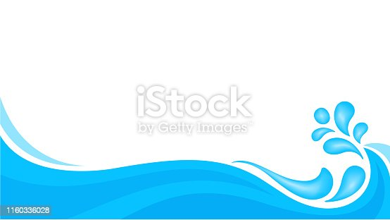 water drop splash isolated on banner white background, splash of water for element banner, water drop splatter simple for songkran festival copy space, splash water drop symbol for graphic ad design