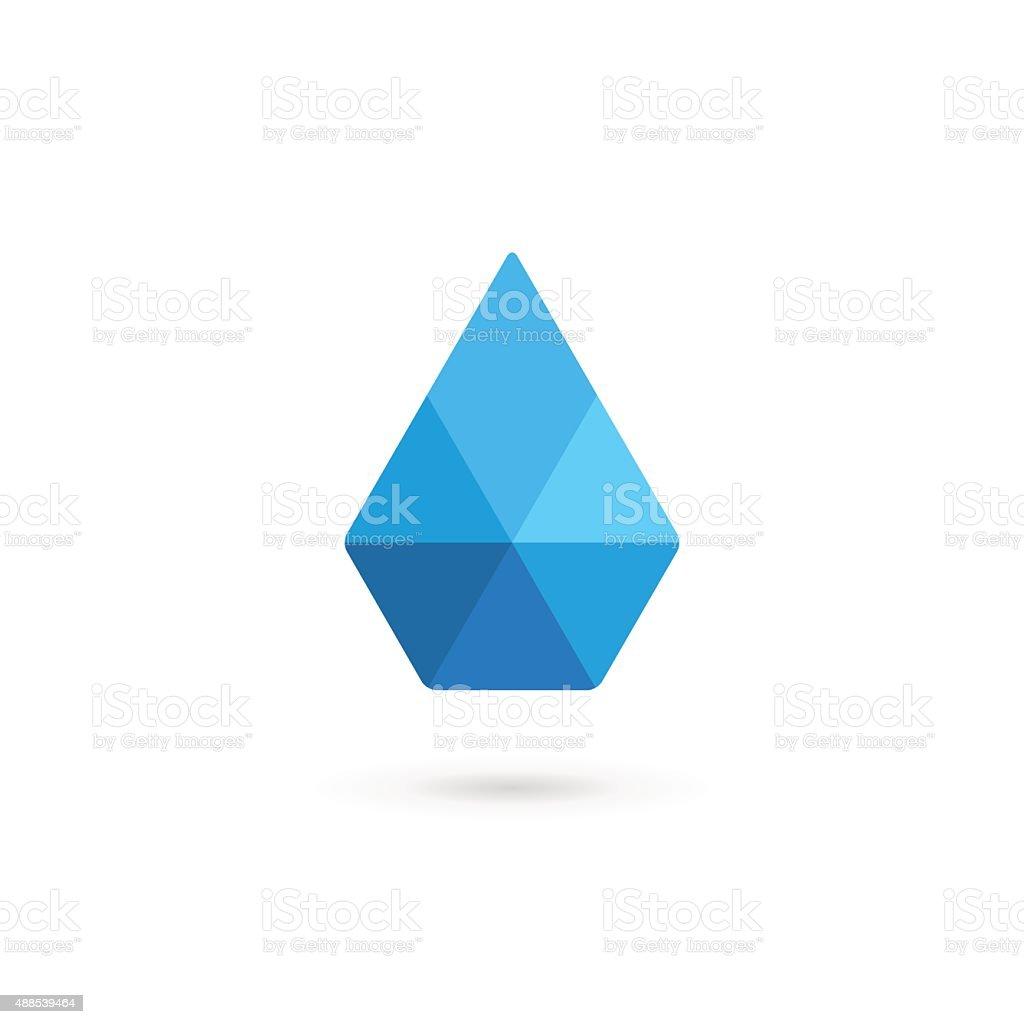 Water drop symbol crystal design template icon vector art illustration