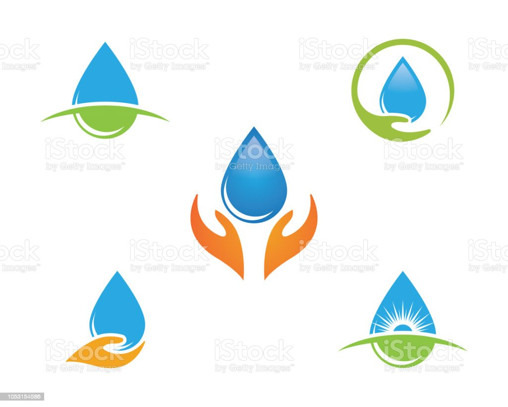 water drop logo template stock vector art more images of abstract