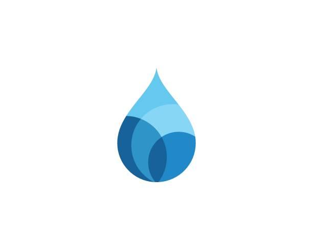 ウォータードロップロゴテンプレート - 水滴点のイラスト素材/クリップアート素材/マンガ素材/アイコン素材