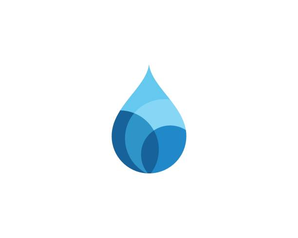 stockillustraties, clipart, cartoons en iconen met water drop logo sjabloon - druppel