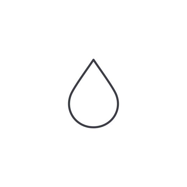 ikona cienkiej linii kropli wody. liniowy symbol wektora - kropla stock illustrations