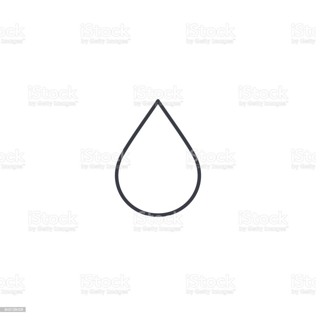 water drop thin line icon. Linear vector symbol vector art illustration