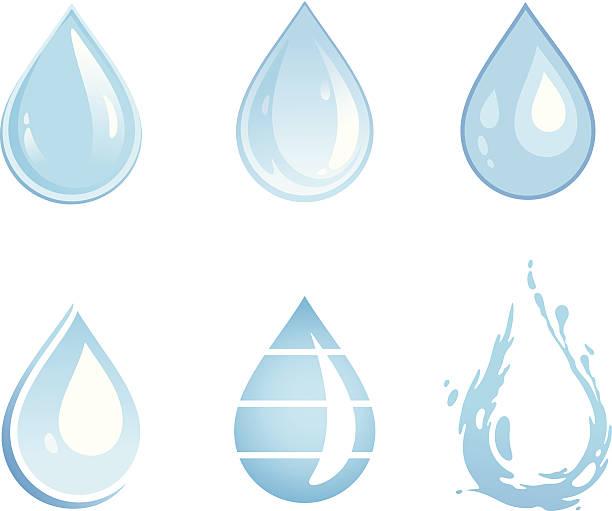 Wasser Tropfen – Vektorgrafik