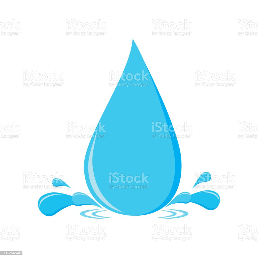 Water Drop Vector Illustration Water Splash And Water Drop On Light Background Flat Design Stock Illustration Download Image Now Istock