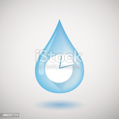 Water Drop With A Pie Chart Stock Vector Art More Images Of 2015
