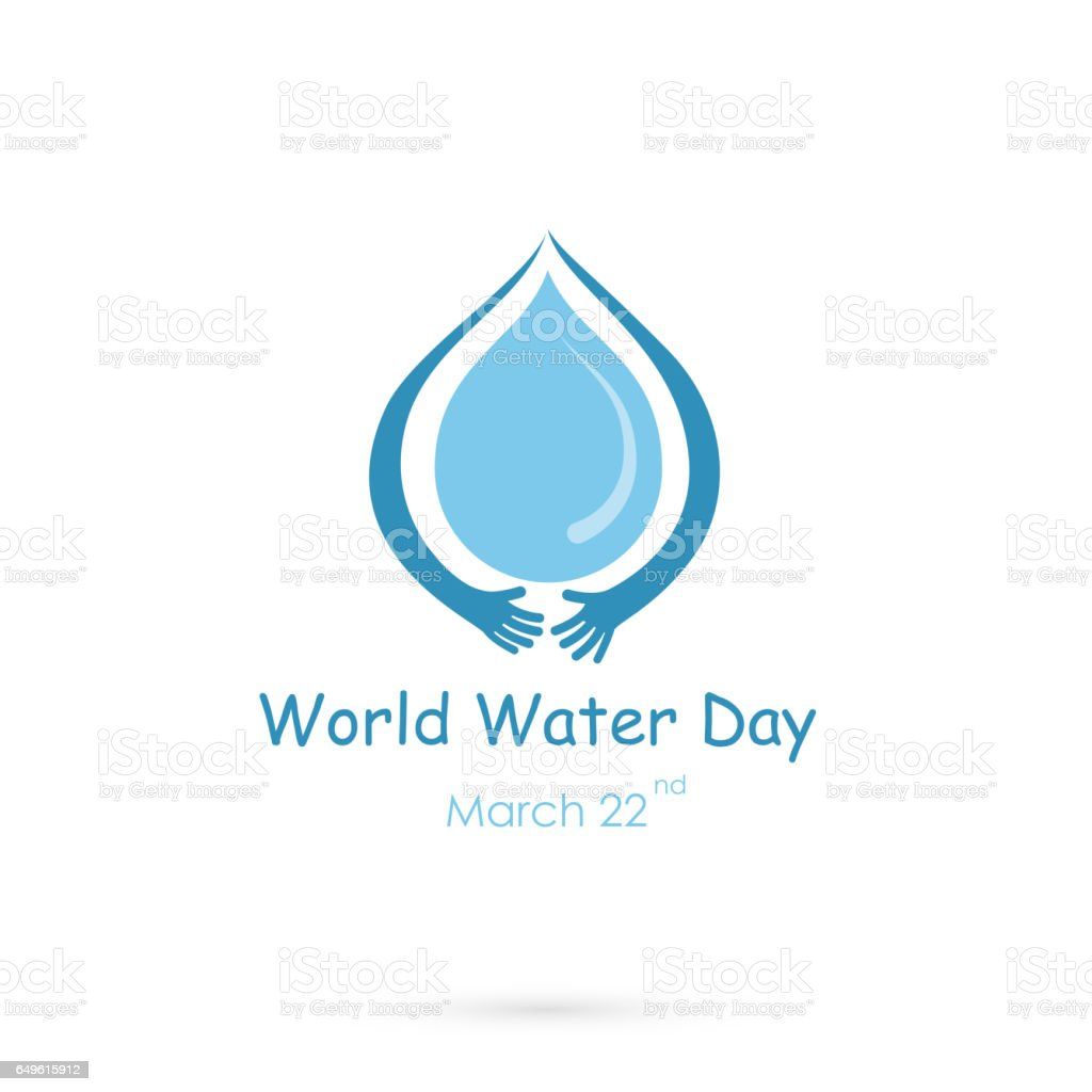 Water Drop With Human Hand Vector Logo Design Templateworld Water