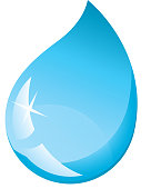 Vector illustration of a water droplet.