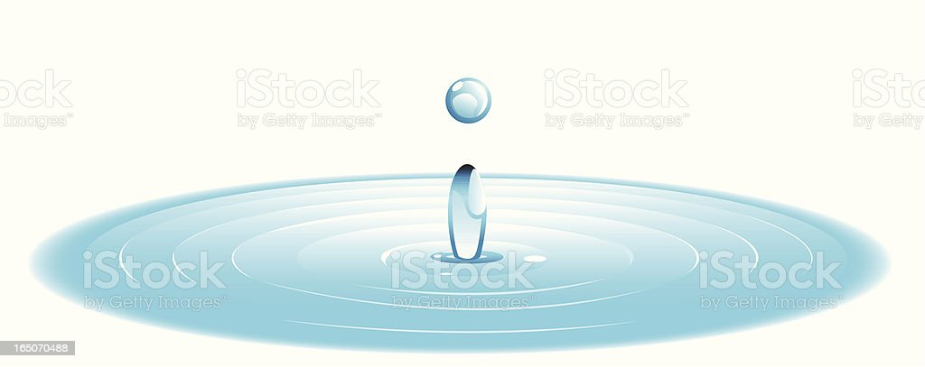 Water Droplet - VECTOR royalty-free water droplet vector stock vector art & more images of blue