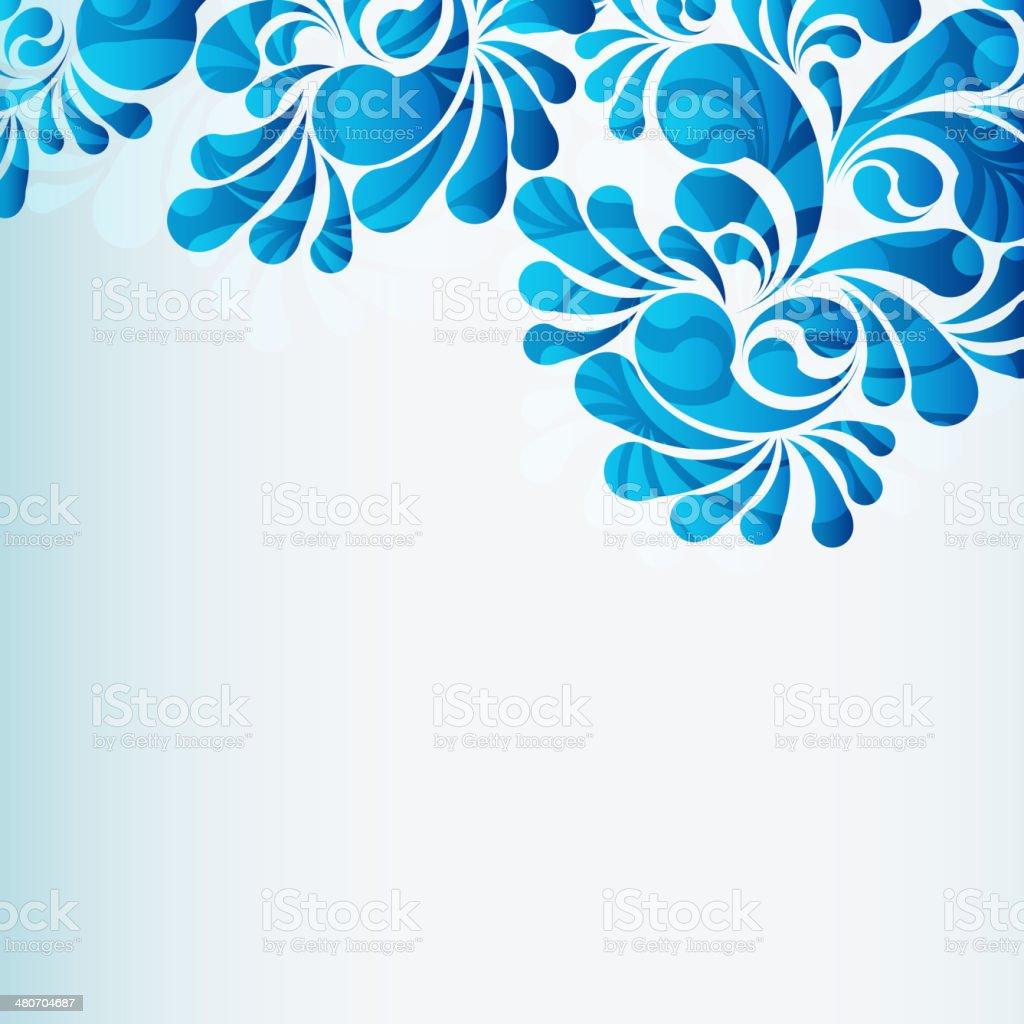 Fondo de gotas de agua - ilustración de arte vectorial