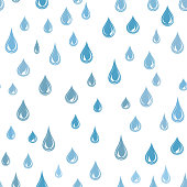 Water drops seamless pattern . Raindrop background. Rain texture