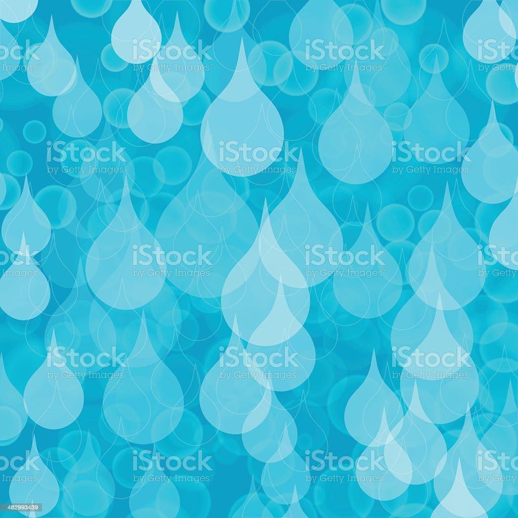 Water drops vector art illustration