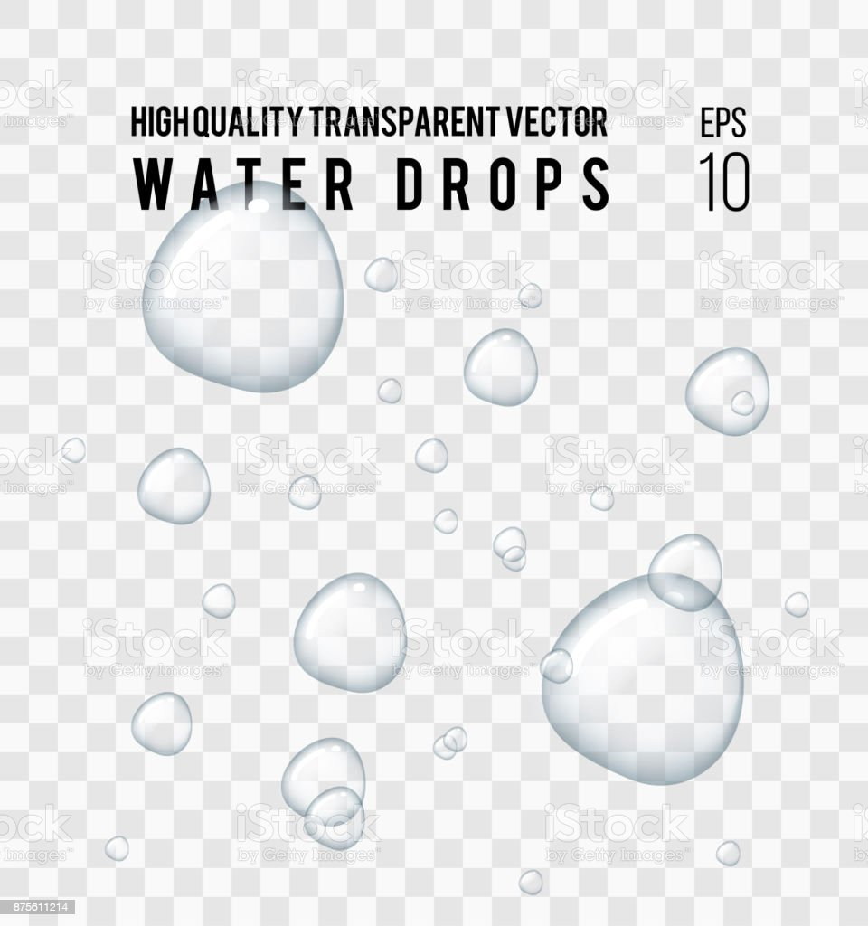 water drops vector art illustration