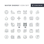 29 Water Energy Icons - Editable Stroke - Easy to edit and customize - You can easily customize the stroke with
