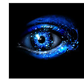 Water futuristic eye on black . EPS 10 with transparency and effects of blending colors.