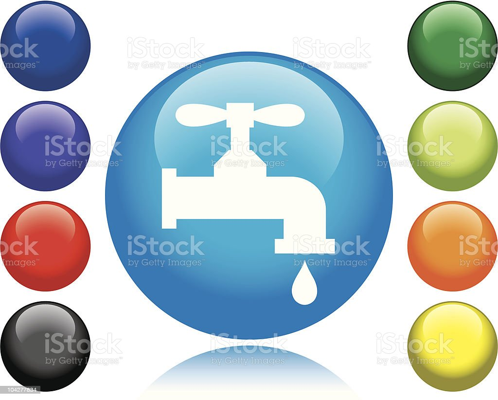 Water Faucet Icon vector art illustration